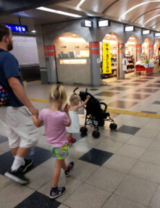 JR, JR Rail Pass, Metro, Subway, Japan, Diapers on a plane, DiapersONAPLANE, traveling with kids, family travel, rush hour japan
