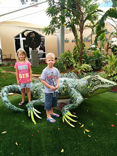 Aruba Iguanas, Queen Beatrix Airport, AUA, Aruba, Flying, Airport, Caribbean, Diapers on a plane, diapersonaplane, creating family memories, traveling with kids, family travel