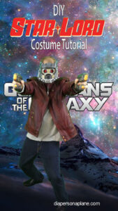 Starlord Halloween Costume, Guardians of the Galaxy, Halloween Costume Tutorial, Diapers on a plane, diapersonaplane, traveling with kids, creating family memories, family travel