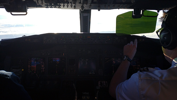 riding in the cockpit, flying in the cockpit, copilot, co-captain, SAS airlines, aircraft, standby, jumpseat, once in a lifetime, diapersonaplane, diapers on a plane, creating family memories, traveling with kids, family travel