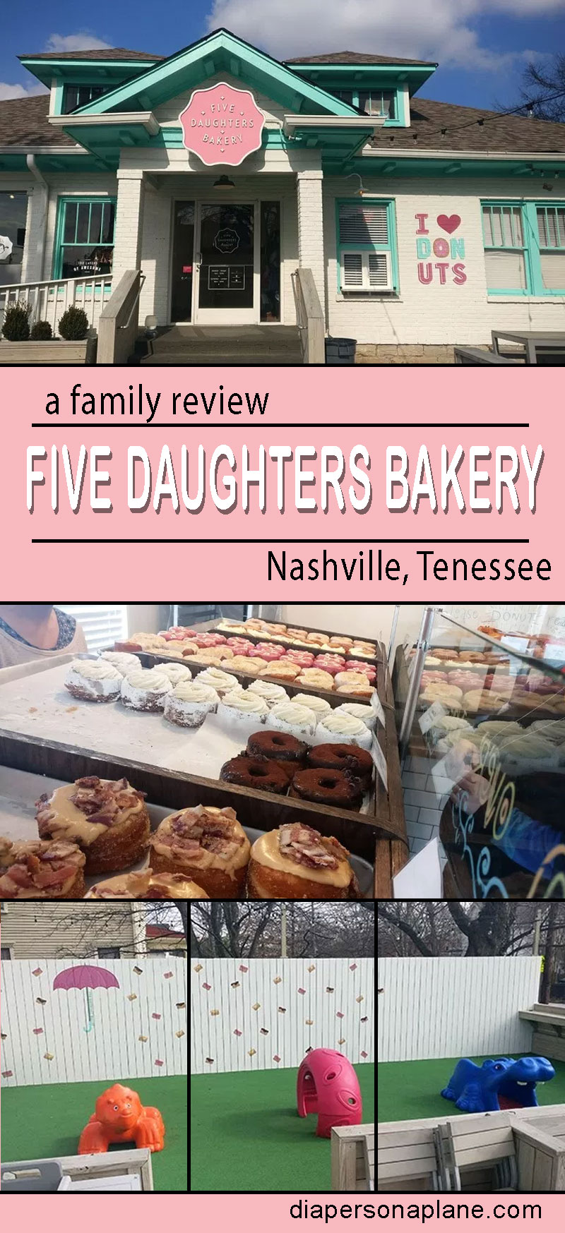 Five Daughters Bakery, Nashville, Tennessee, Cronuts, Doughnuts, 100 Layers, Organic, GMO Free, Bakery, diapersonaplane, diapers on a plane, creating family memories, traveling with kids, family travel