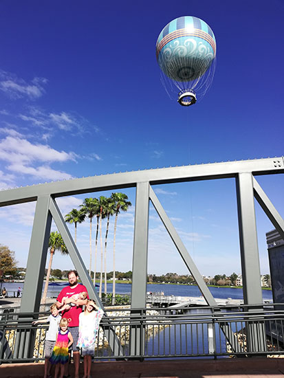 Aerophile Balloon Ride Disney Springs, Hot Air Balloon, Orlando, Florida, Groupon Aerophile, creating family memories, traveling with kids