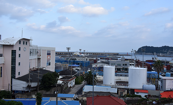 View from Hotel Fine on Jeju