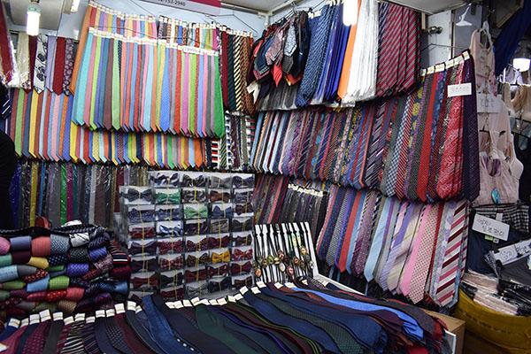 Ties at Namdaemun Market in Seoul, South Korea