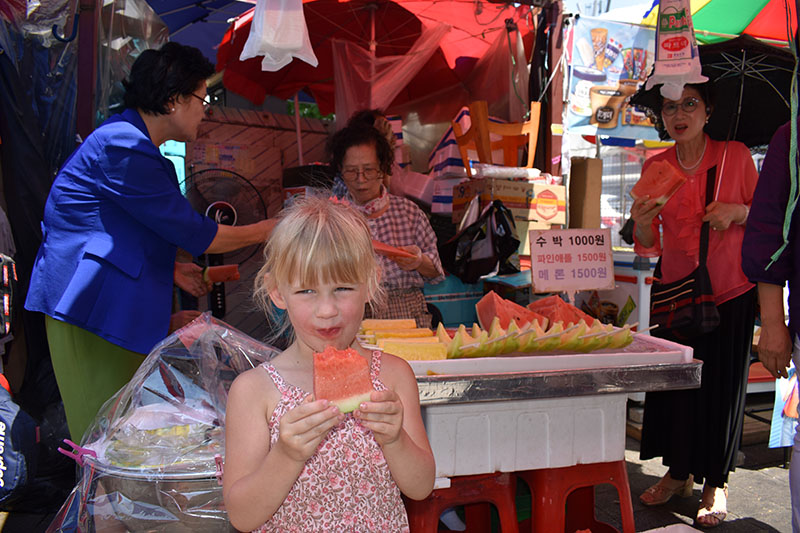Falling in Love in Korea at Namdaemun Market